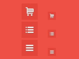 Shopping Cart and List Icons PSD (Retina Ready)