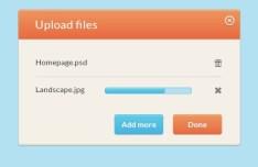 Simple Upload Modal Interface PSD