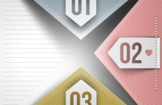 Vector Data Display Labels With Numbers For Infographic 01