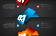 Vector Data Display Labels With Numbers For Infographic 05