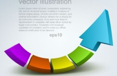Creative Colorful Vector Arrow Background 01