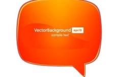 Simple Glossy Speech Bubble Vector 01