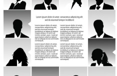 Vector Fashion Business People Silhouettes 03
