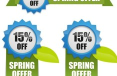 Vector Fresh Spring Offer Labels 03