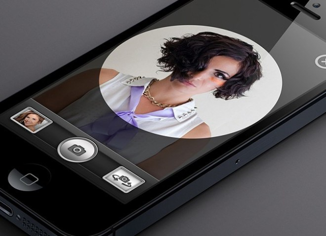 iPhone 5 Camera App UI PSD