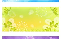 Fresh and Elegant Floral Banner Design Templates Vector