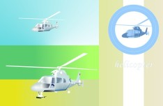Simple Vector Helicopter Illustration