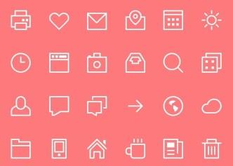 Thin Stroke Icons PSD