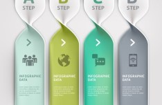 Vector Technology Infographic Step Options Elements 01