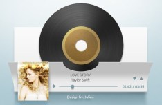 Paper Like Music Player Interface PSD