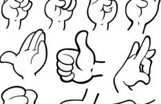 Vector Hands and Gestures Design Elements 03