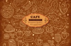 Vector Vintage Hand-Drawn Decorative Ornaments For Cafe & Restaurant 01