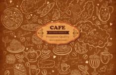 Vector Vintage Hand-Drawn Decorative Ornaments For Cafe & Restaurant 01