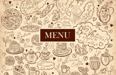 Vector Vintage Hand-Drawn Decorative Ornaments For Cafe & Restaurant 06