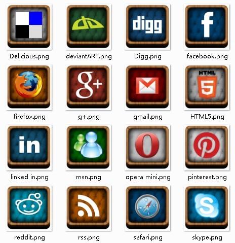 3D Social Box Icons