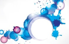 Colorful Abstract Shapes Background Vector 06