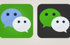 Flat WeChat App Icon PSD