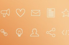 Minimal Outline Icons PSD