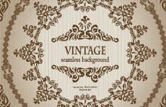 Seamless Vintage Floral Pattern Background Vector 01