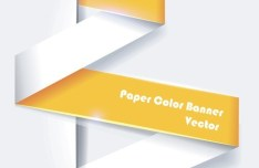 Colored Paper Banners with Numbers Vector 03