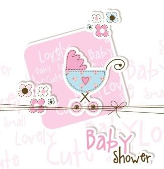 Lovely Baby Shower Elements Vector Illustration 01