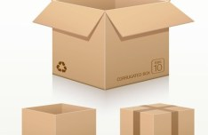 Vector Recycled Corrugated Cardboard Box Templates 01