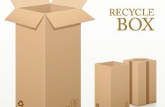 Vector Recycled Corrugated Cardboard Box Templates 02
