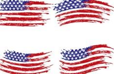Vintage American Flag Design Vector 03