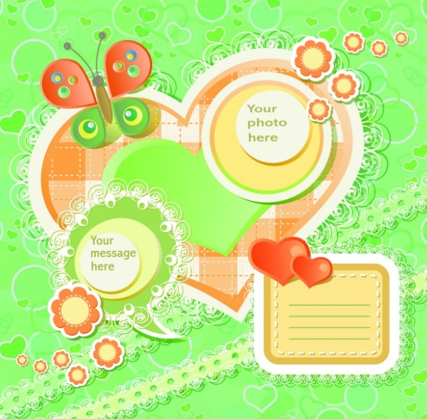 Lovely Cartoon Scrapbook Design Elements 01