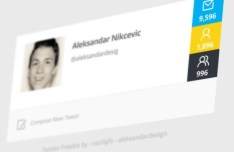 Twitter User Profile Interface PSD