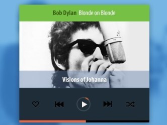 Flat Mobile Music Player PSD