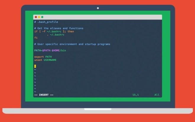 Flat Terminal UI Mockup PSD