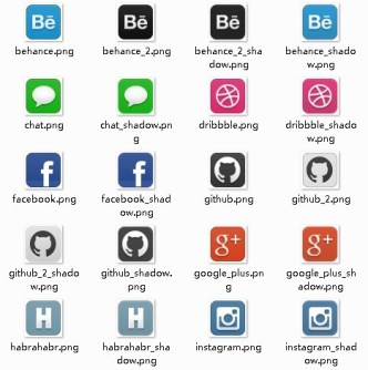 HabraPack Social Icons Pack