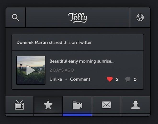Dark Telly iPhone App GUI PSD