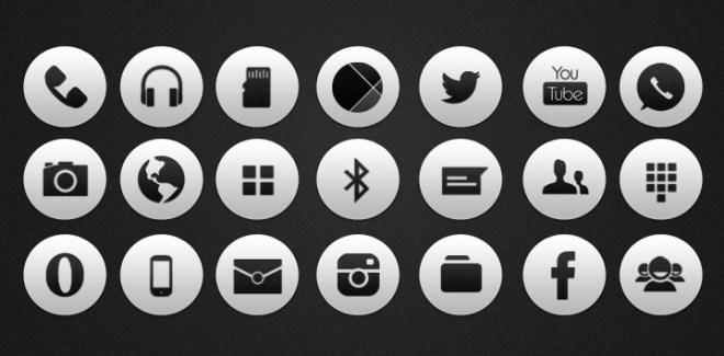 Rare White Socoal Icons