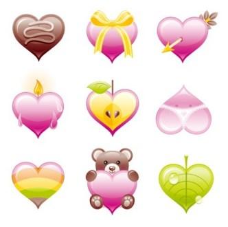 Creative Cute Heart Design Decoration Vector
