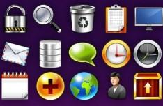 15 Glossy Web Icons