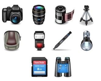 3D Photography Icon Set