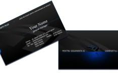 Dark Technology Business Card Template PSD
