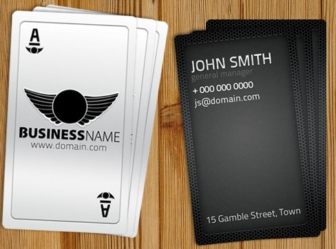 Playing Card Like Business Template PSD