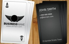 Playing Card-Like Business Card Template PSD