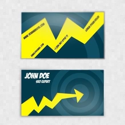 SEO Expert Business Card Template Vector