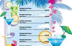 Vector Summer Drinks Menu