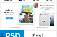 Apple Bento Box UI PSD