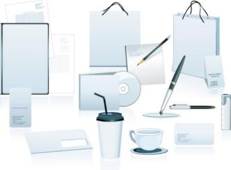 Blank Corporate Identity Design Template Vector