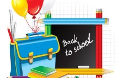 Cartoon Back To School Vector Elements