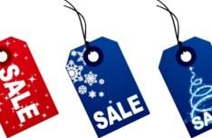 Christmas Price Tags Vector