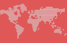 Dotted World Map Vector PSD