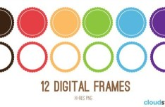 12 HI-Res Digital Frames
