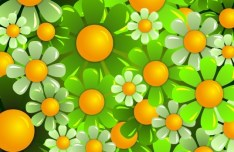 Brightly Colored Flowers Background Vector 03